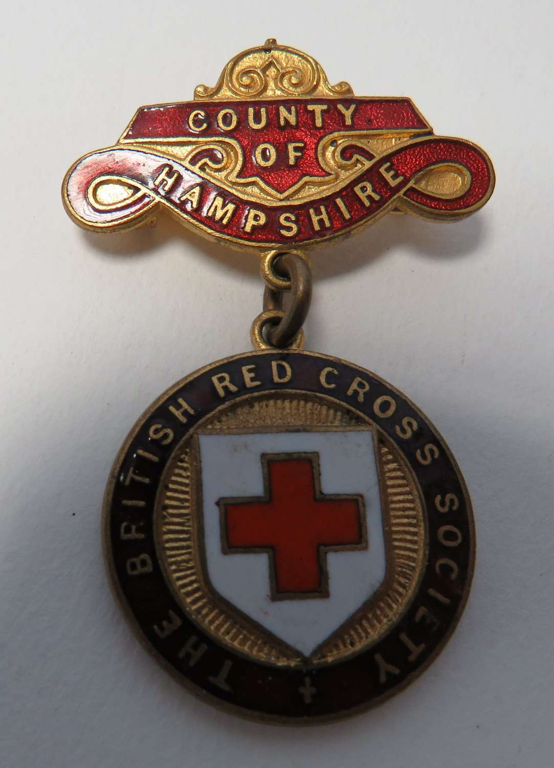 British Red Cross County of Hampshire Breast Badge