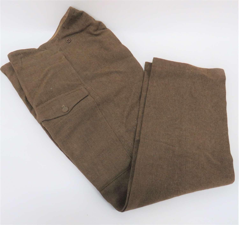 WW2 Pair of 1940 Pattern Battledress Trousers