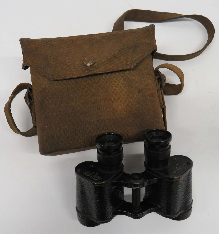 1943 Dated British Army Binoculars In Case