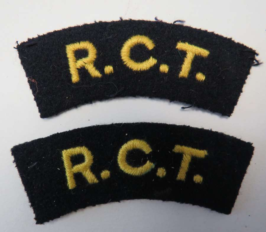 Pair of R.C.T Shoulder Titles