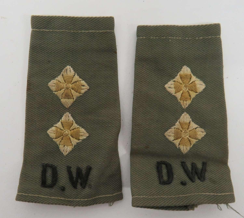 Pair of Officer Duke of Wellington Slip on Titles