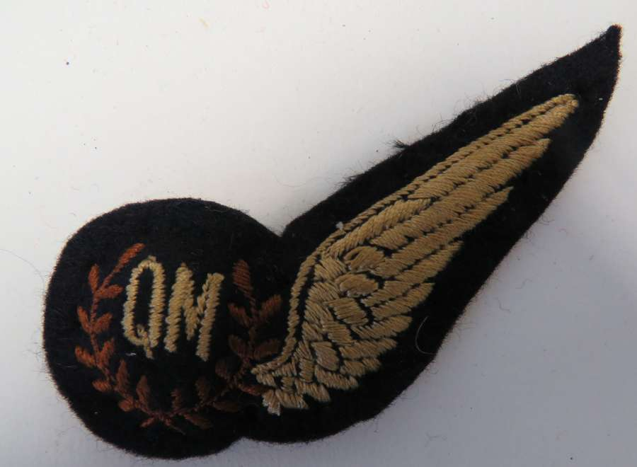 Post War R.A.F Quartermaster Aircrew Wing