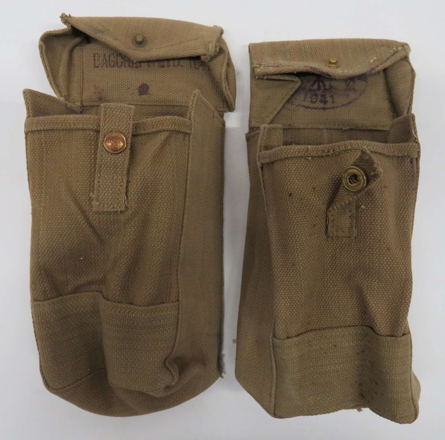 Pair of 1937 Pattern Utility Pouches Dated 1941