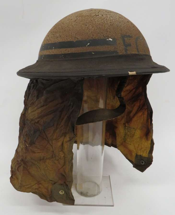 1939 Dated Fire Guard Helmet With Mk 1 Gas Neck Flap