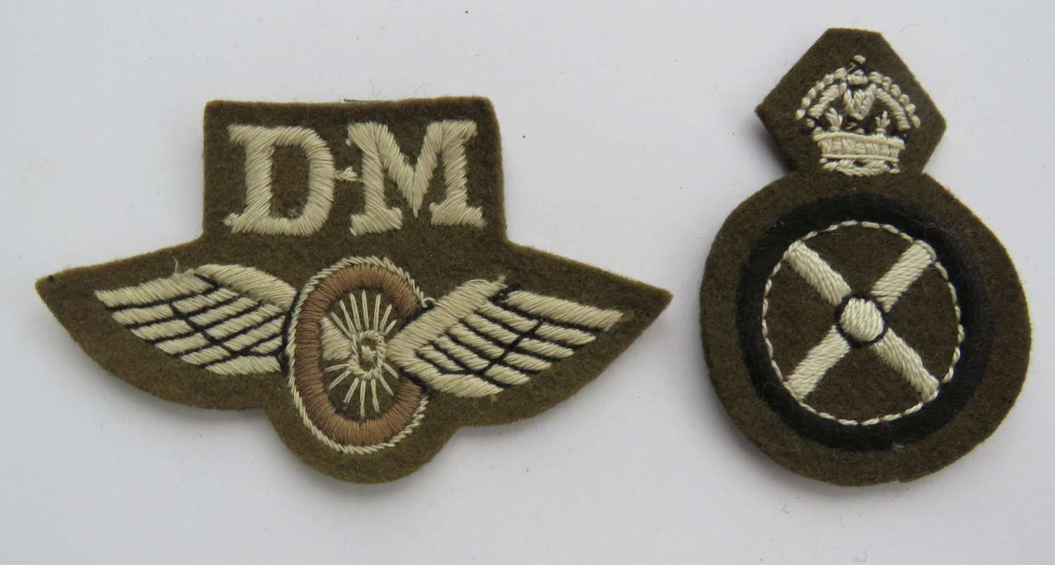 Two WW2 Drivers Qualification Badges