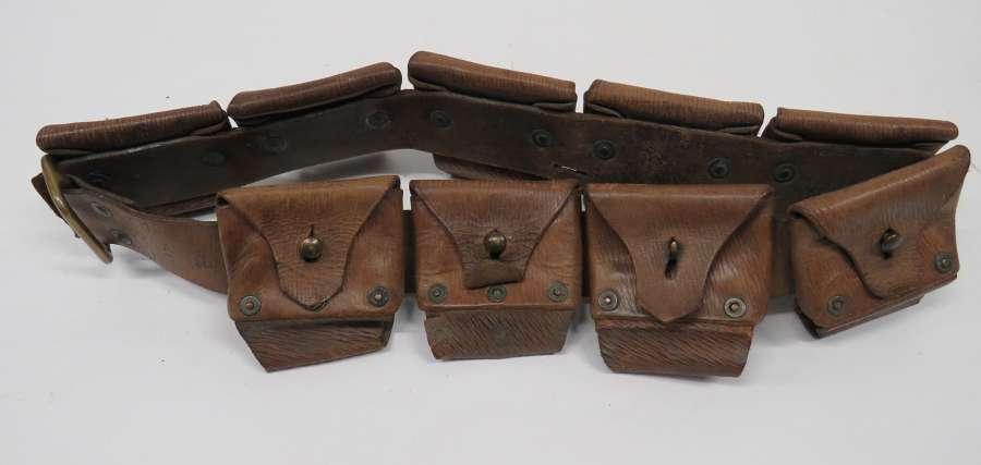Boer War R.F.A Leather Ammunition Bandolier