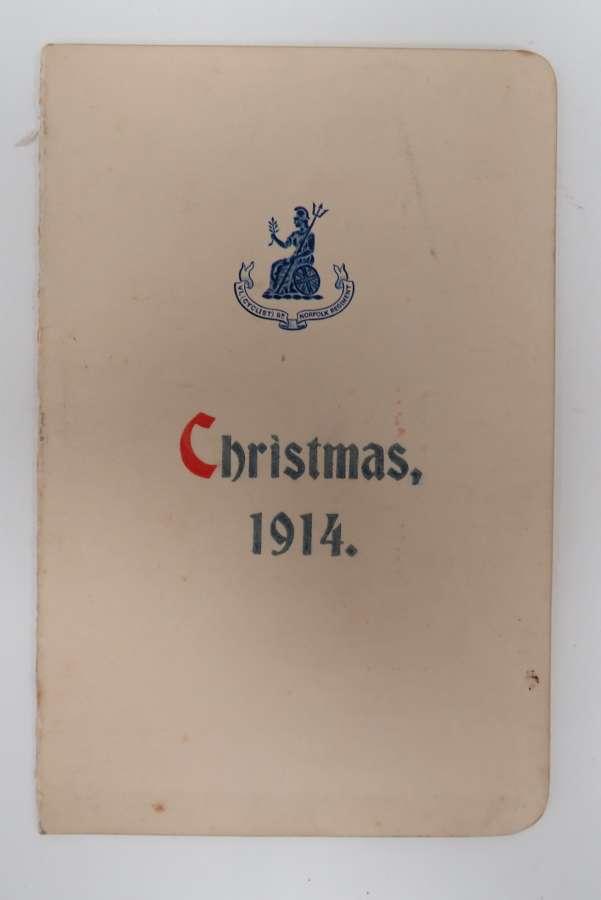 6th Norfolk Battalion 1914 Christmas Card