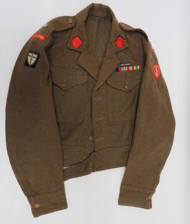 WW2 Polish 2nd Corps Officers Battledress Jacket