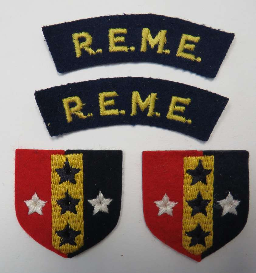 Set of R.E.M.E. Southern Command Badges
