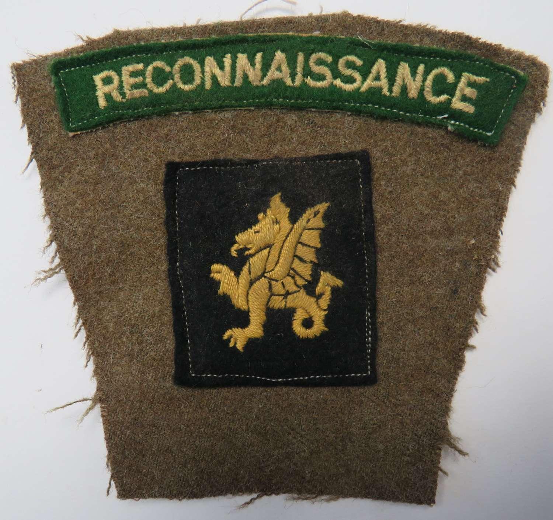 Reconnaissance Corps 43rd Division Battle Patch