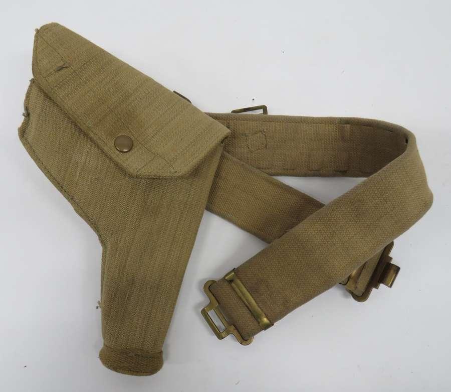 WW2 1937 Pattern Webbing Belt and Holster