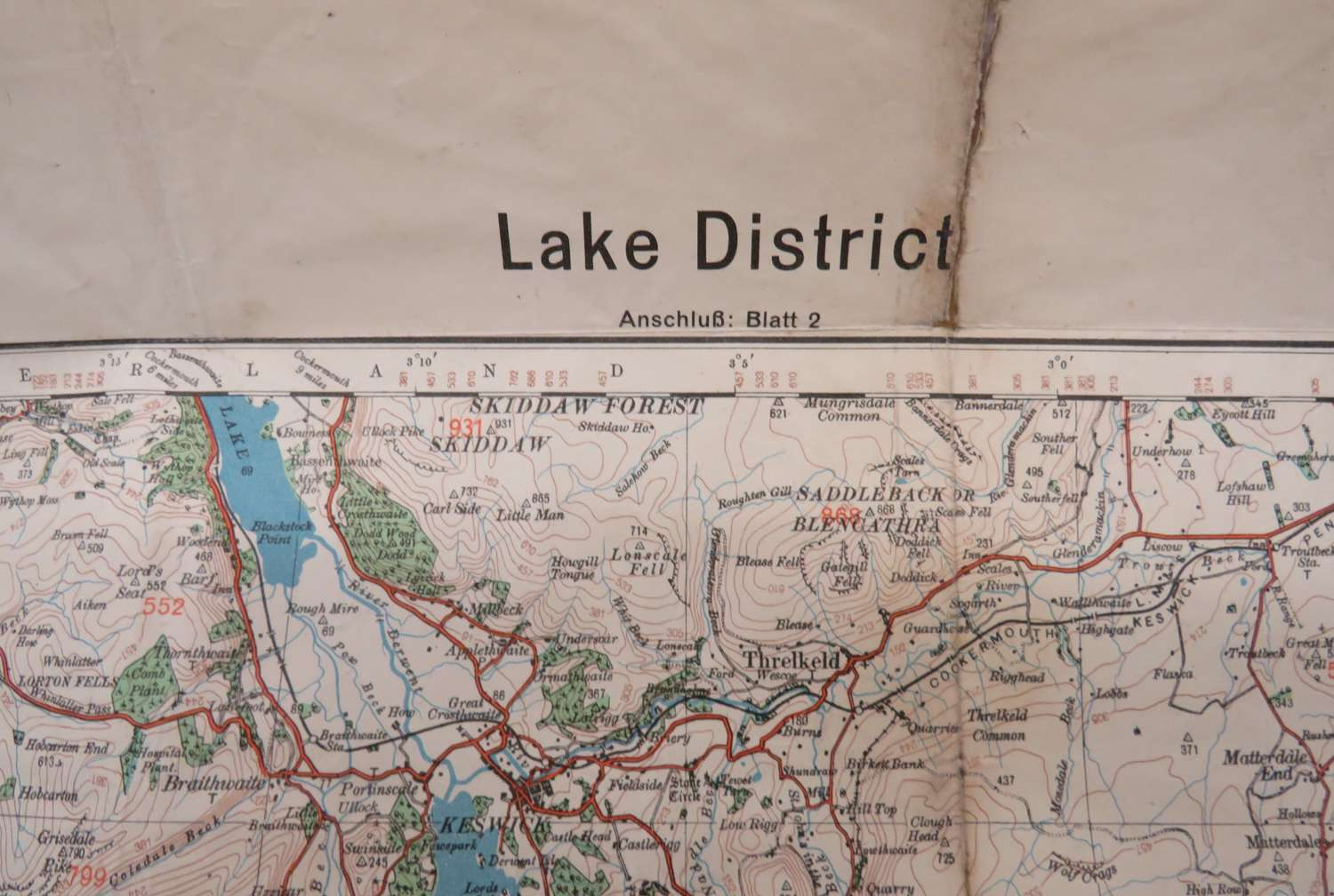 WW 2 German Invasion Map of the Lake District
