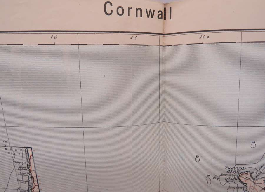 WW 2 German Invasion Map of Cornwall