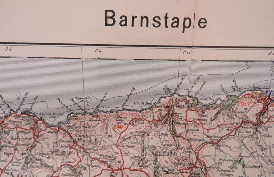 WW 2 German Invasion Map of Barnstaple