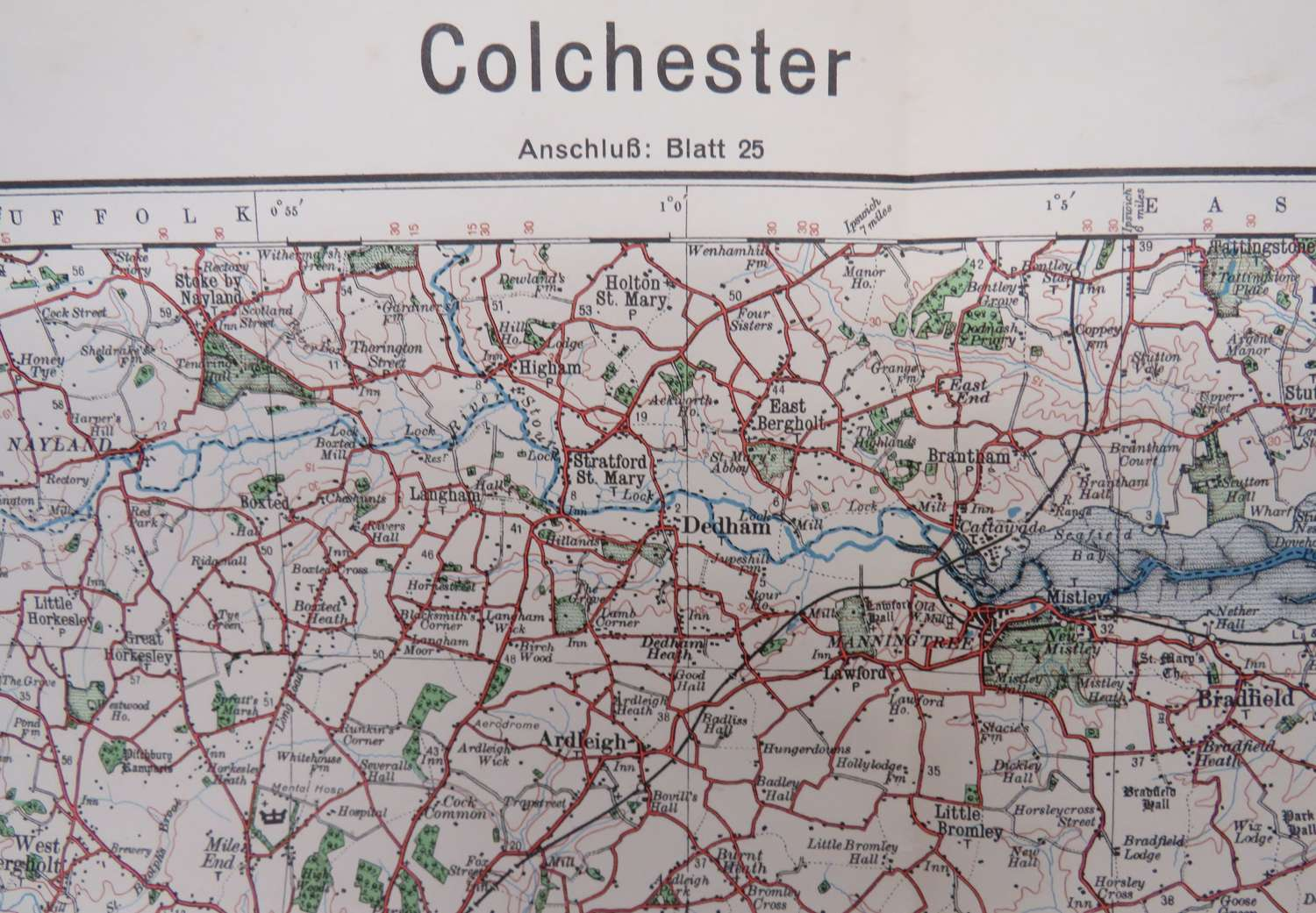 WW 2 German Invasion Map of Colchester