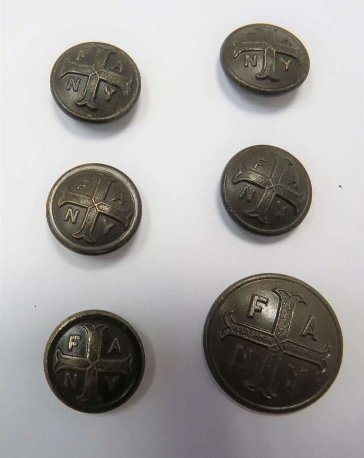 Six First Aid Nursing Yeomanry Buttons