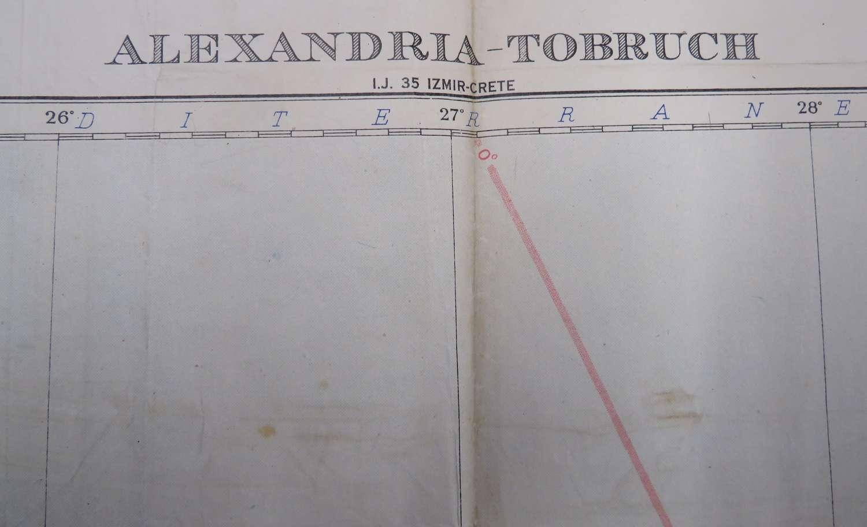 WW2 Tobruk - Alexandria Field Map