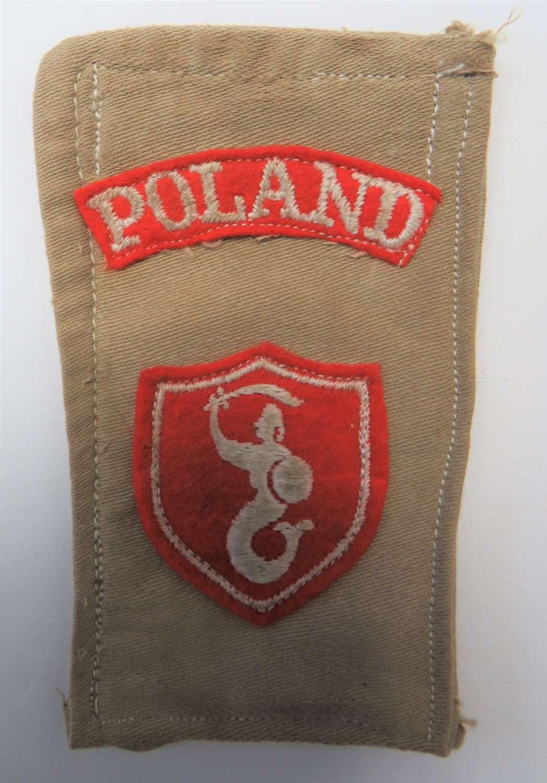 Polish 2nd Corps Tropical Hanging Battle Flash