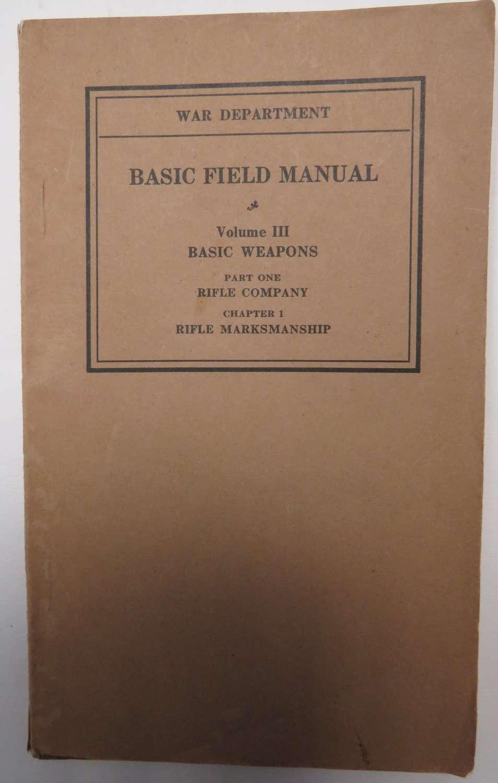 1932 American Rifle Instruction Manual