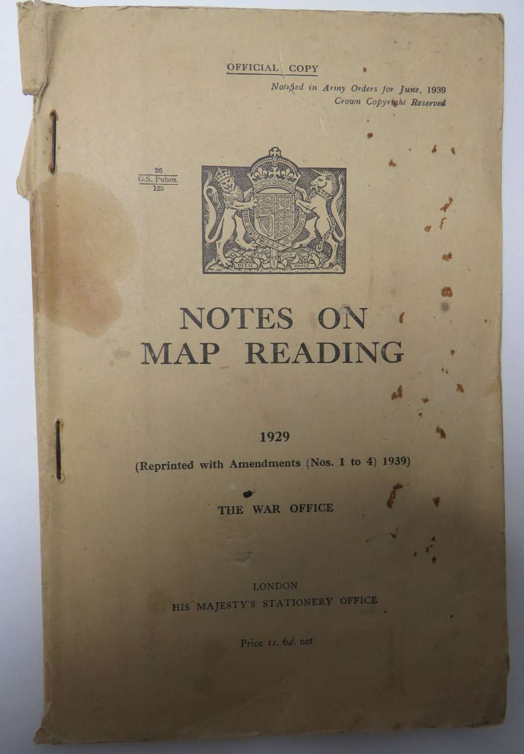 1929 Manual on Map Reading