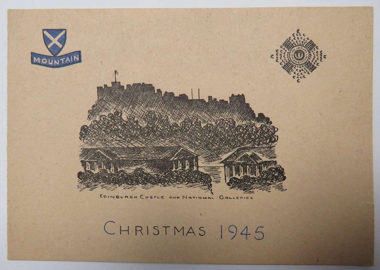 Royal Scots Mountain Division 1945 Christmas Card