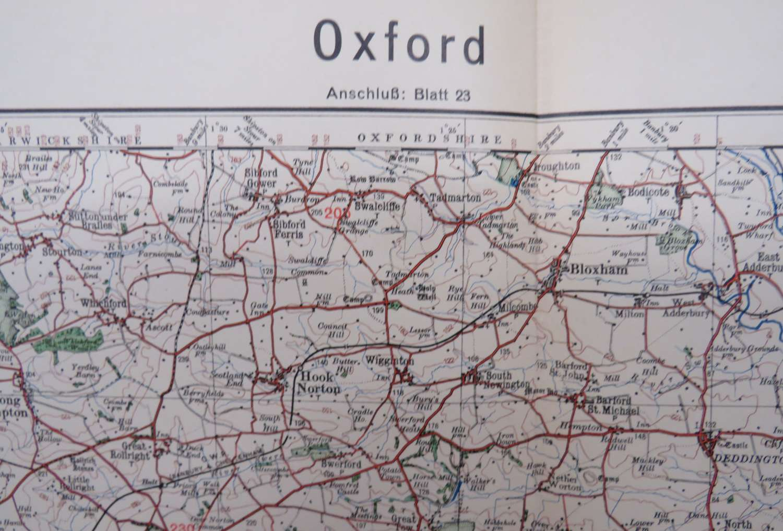 WW 2 German Invasion Map of Oxford