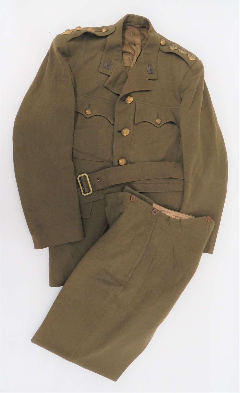 WW2 Intelligence Corps War Economy Officers Service Dress Uniform