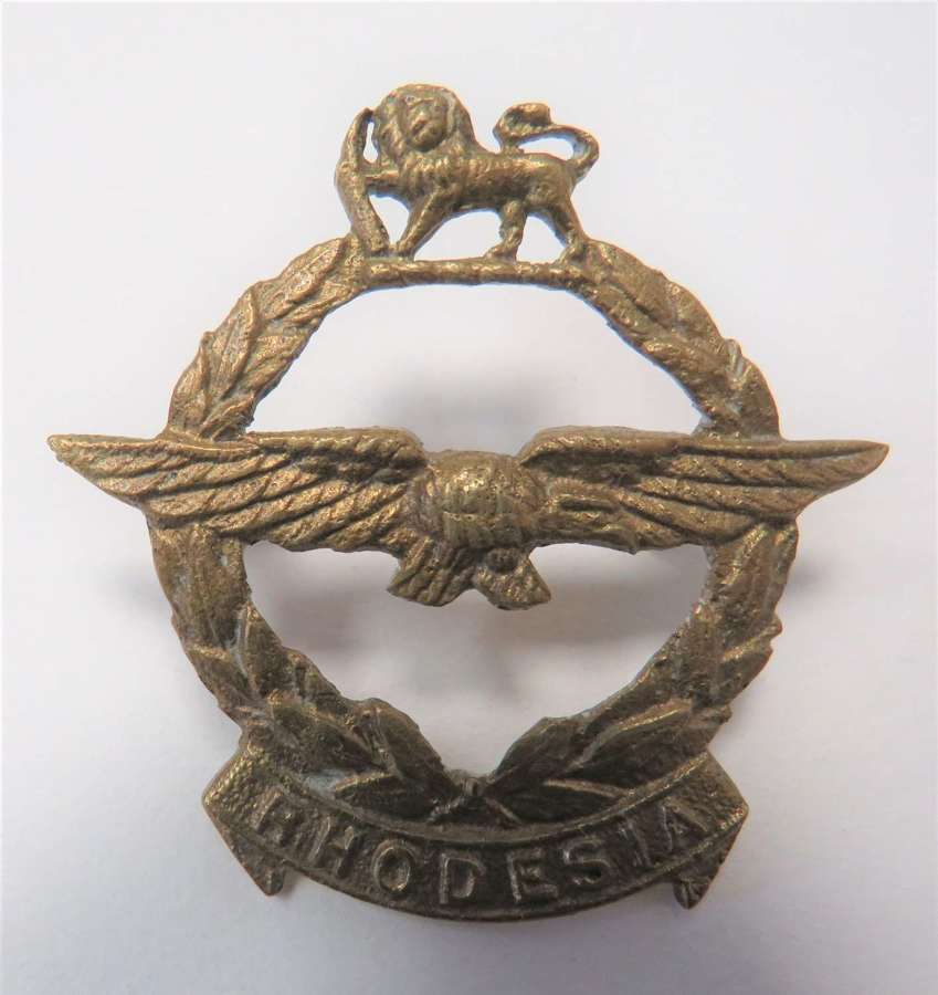 WW2 Rhodesia Air Force Cap Badge