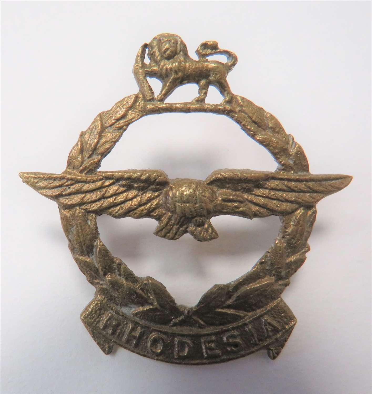 WW2 Rhodesia Air Force Cap Badge