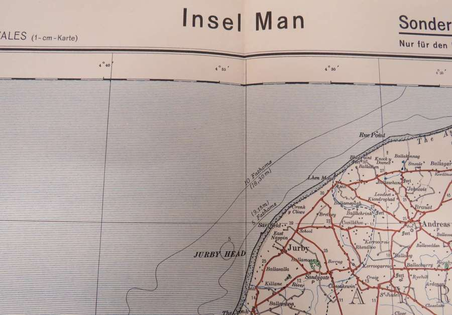 WW 2 German Invasion Map of Isle of Man