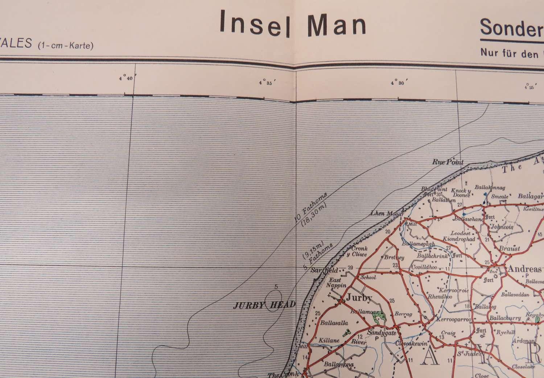 WW 2 German Invasion Map of Isle of Man