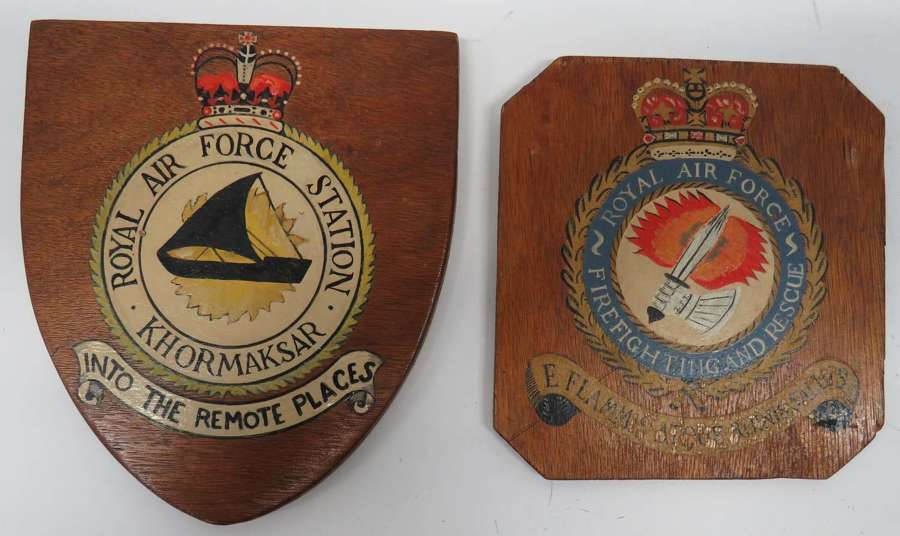 Two Post 1953 R.A.F Squadron Wall Plaques
