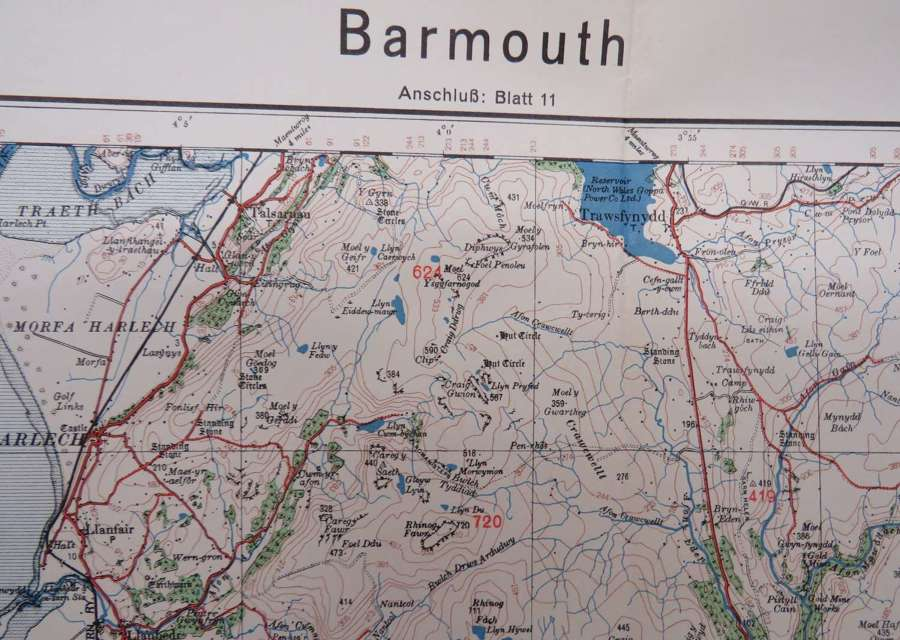 WW 2 German Invasion Map of Barmouth