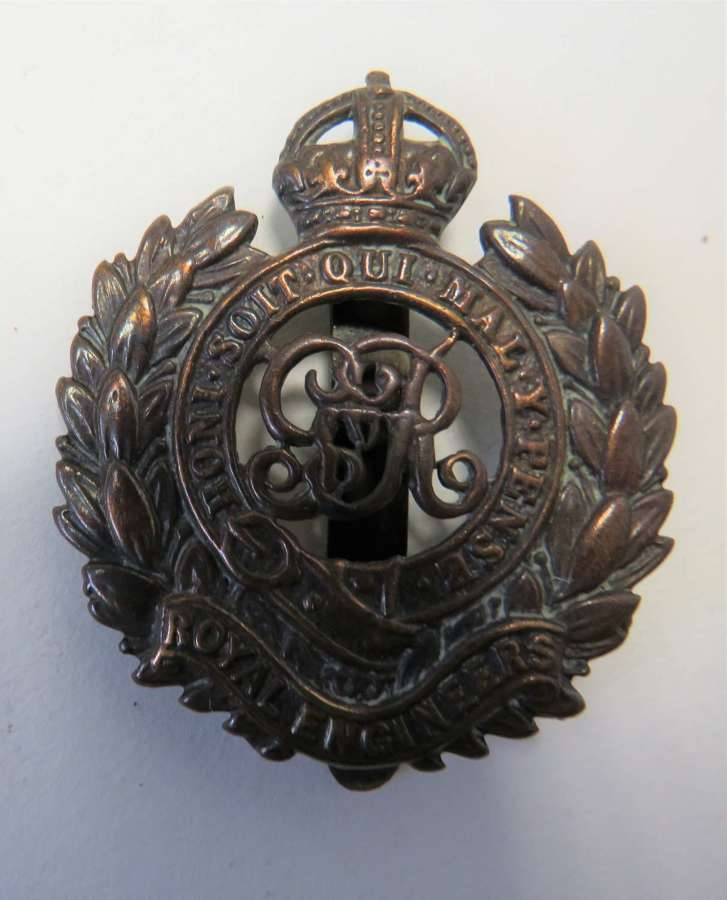 WW1 Royal Engineers Cap Badge