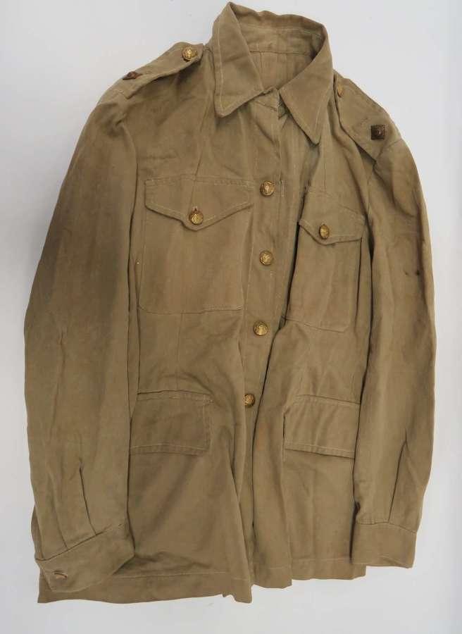 WW2 Scottish Black Watch Officers Tropical Bush Jacket