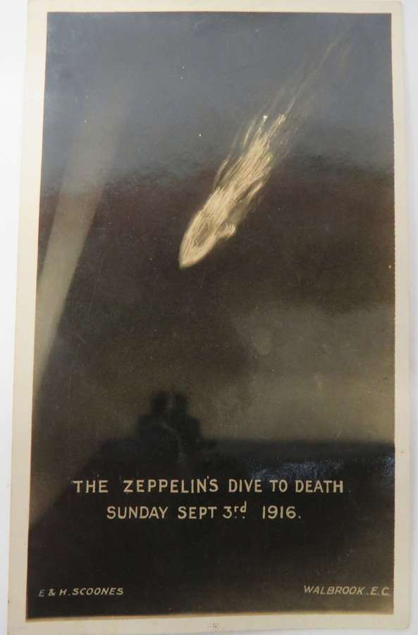 1916 Dated Zeppelin Postcard