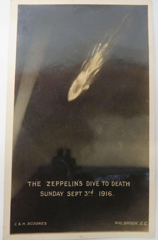 1916 Dated Zeppelin Postcard