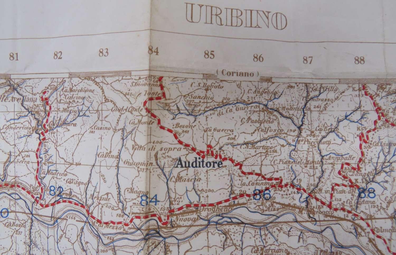 1944 Italy Urbino Military Invasion Map