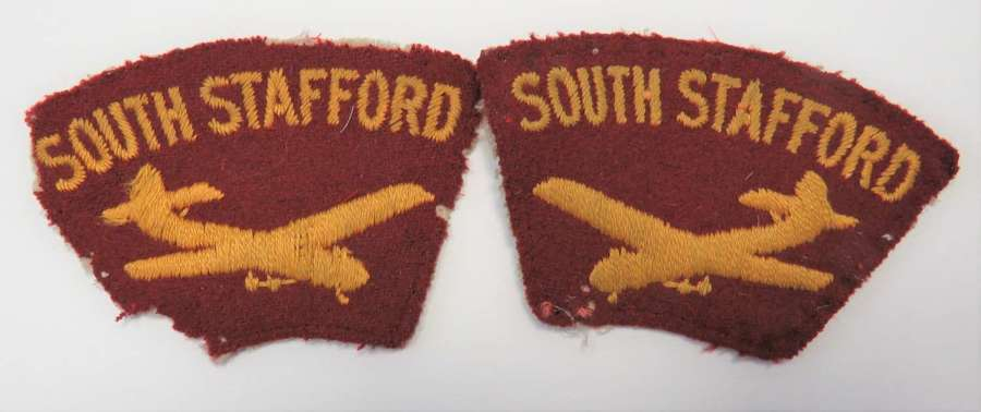 Pair of South Stafford Glider Shoulder Titles