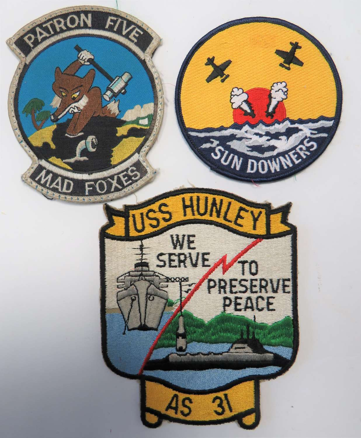 Three American Overall Patches