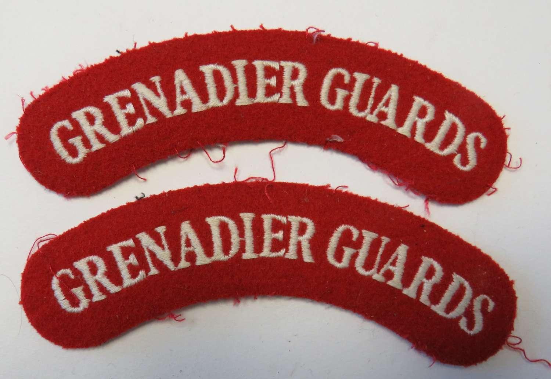 Pair of Current Grenadier Guards Shoulder Titles