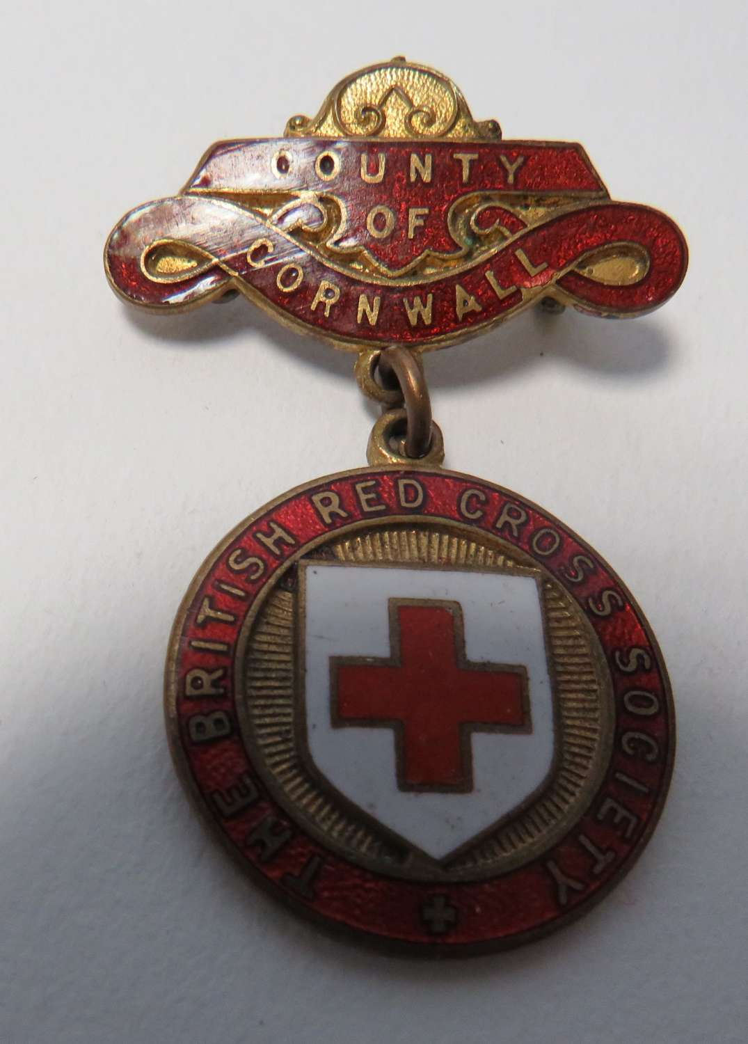 County of Cornwall British Red Cross County Breast Badge