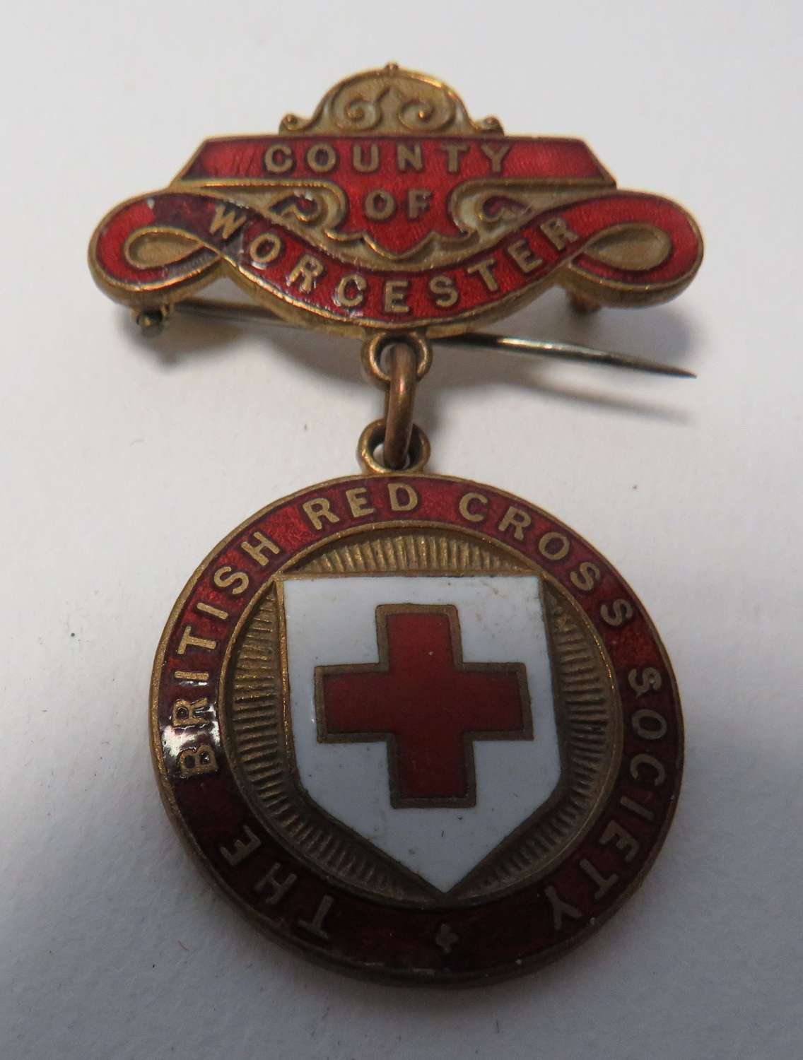 County of Worcester British Red Cross County Breast Badge