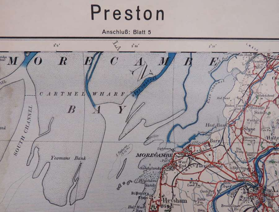 WW 2 German Invasion Map of Preston