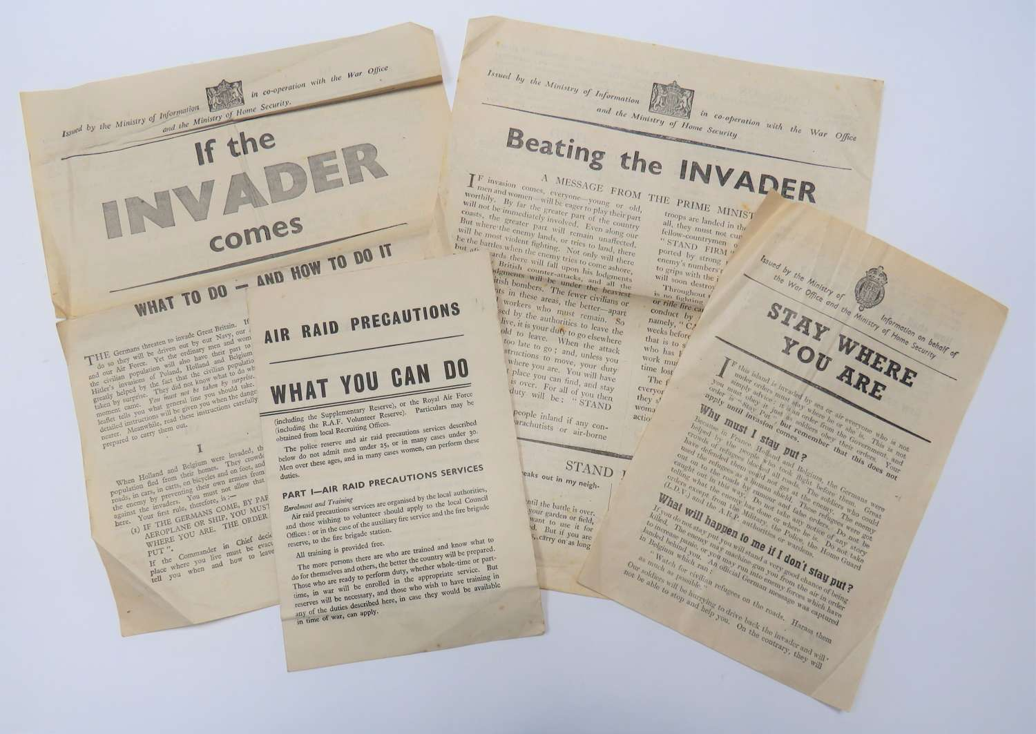Four WW2 Home Front Leaflets