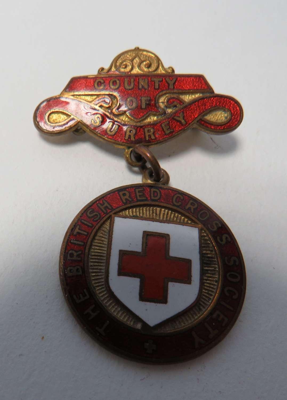British Red Cross County of Surrey Breast Badge