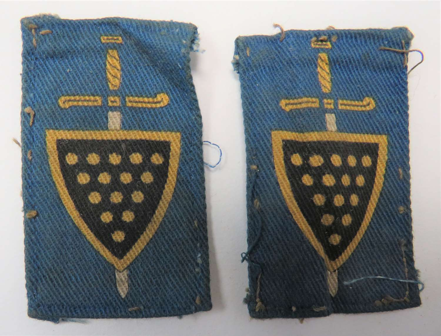 Pair of 73rd Independent Infantry Formation Badges