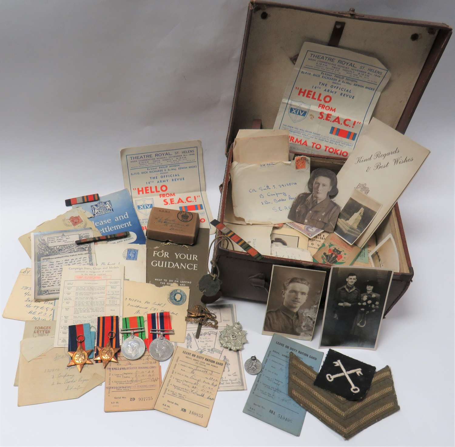 Border Reg / Kings Own Far East Medal and Paperwork Collection