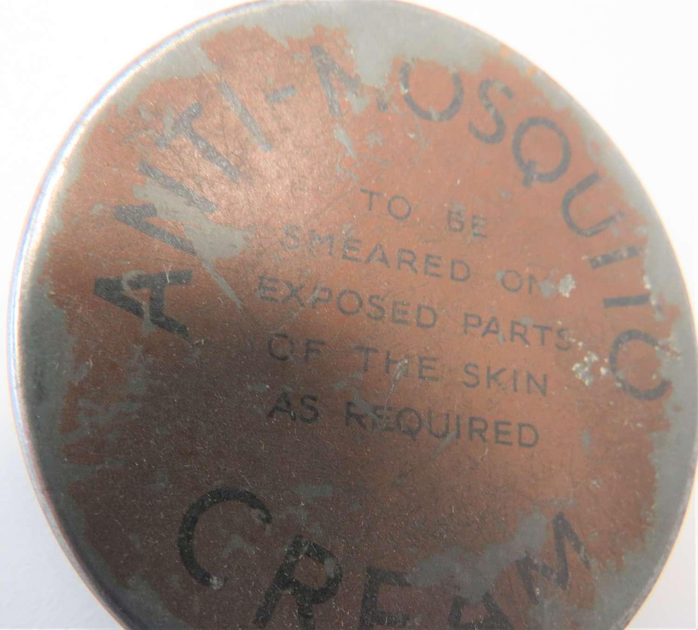 WW2 Tropical Anti- Mosquito Cream Tin