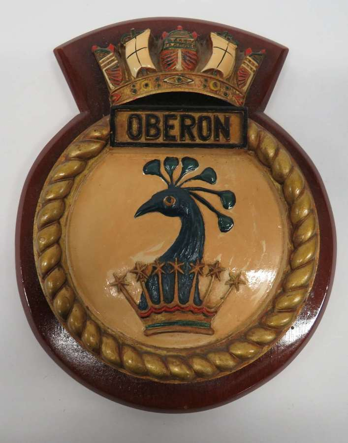 Royal Navy Ships Crest H.M.S Oberon